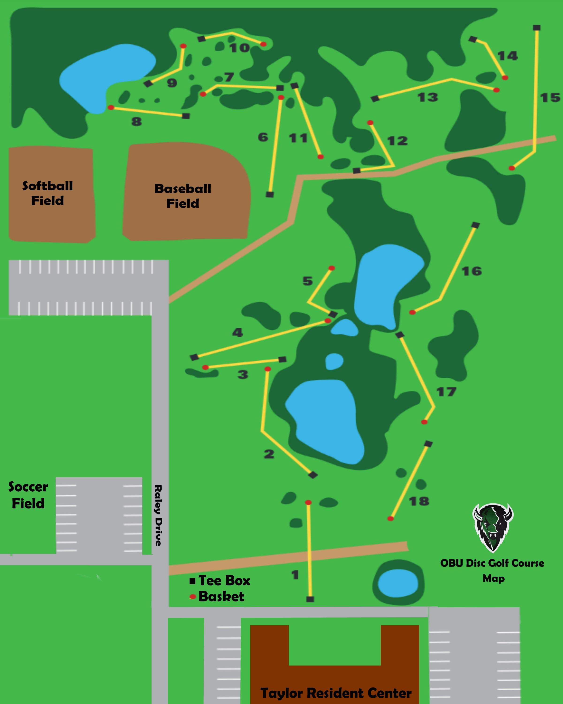 Disc Golf Map Oklahoma Baptist University